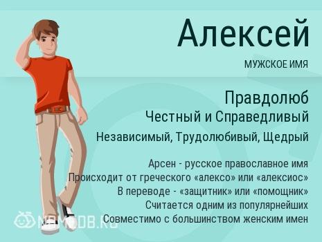 Имя Алексей и совместимость