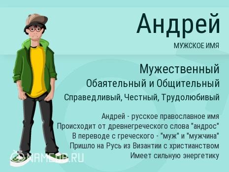 Имя Андрей и гороскоп