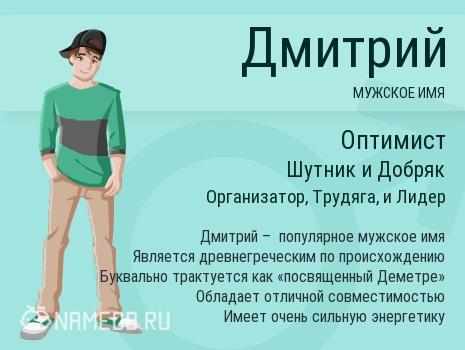 Имя Дмитрий