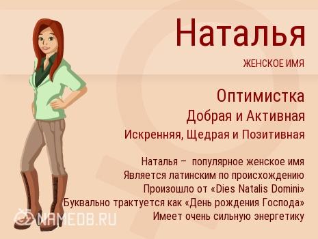 Имя Наталья