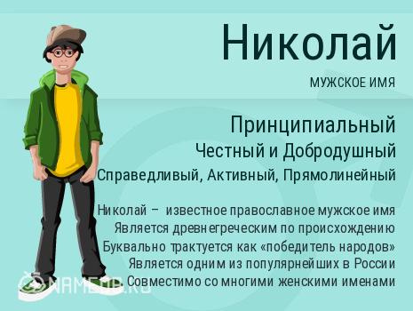 Имя Николай и совместимость