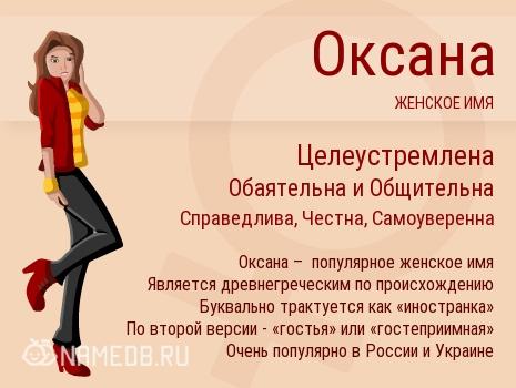 Имя Оксана