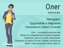 Имя Олег