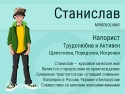 Имя Станислав
