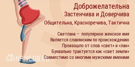 имя Светлана