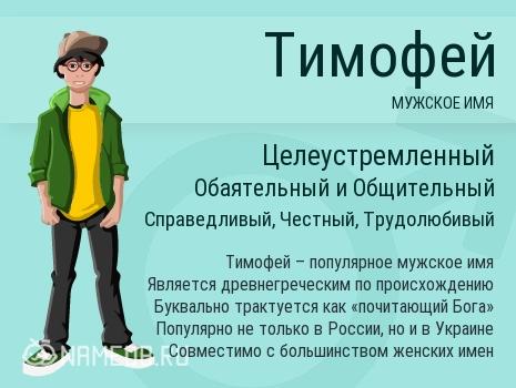 Имя Тимофей