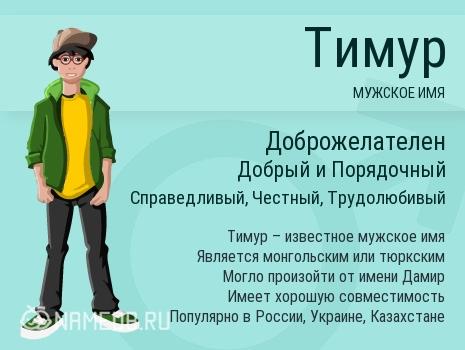 Имя Тимур