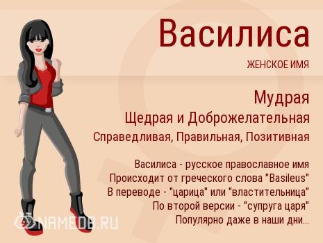 Имя Василиса