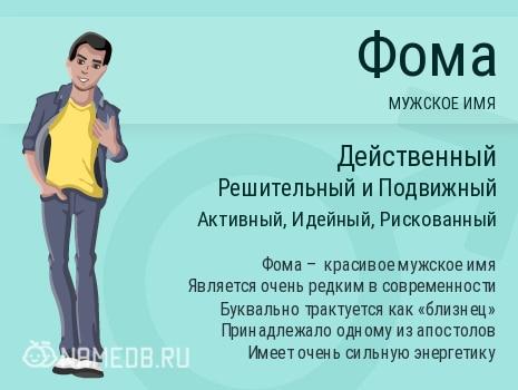 Имя Фома