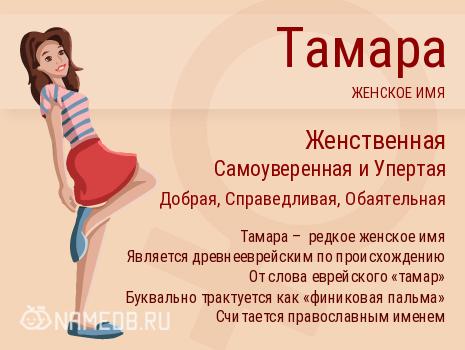 Имя Тамара и совместимость
