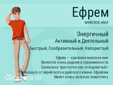 Имя Ефрем