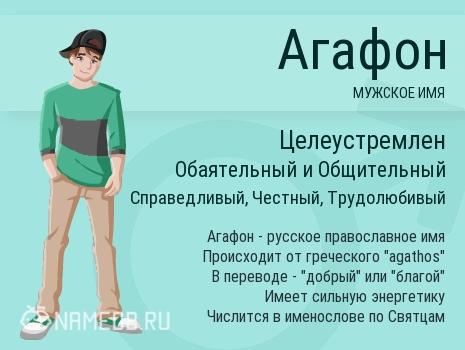 Имя Агафон