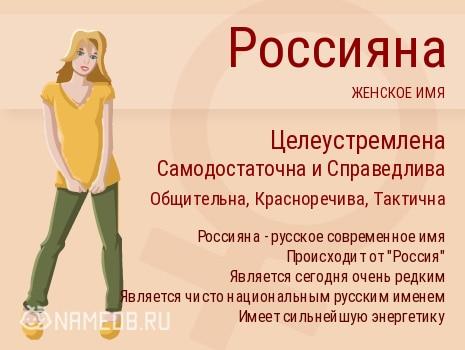 Имя Россияна