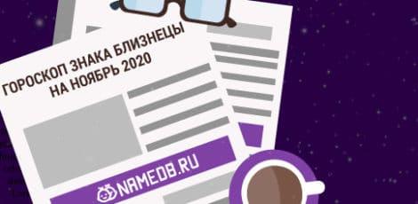 Гороскоп знака Близнецы на Ноябрь 2020