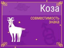 Совместимость знака Коза