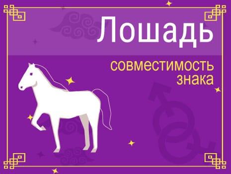 ЗСовместимость знака Лошадь