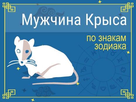 ЗМужчины Крысы по знакам Зодиака