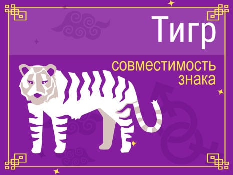 ЗСовместимость знака Тигр