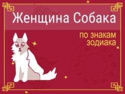 Женщина-Собака по знакам Зодиака